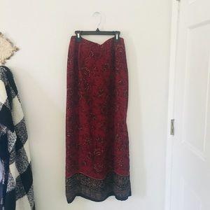 Paisley Maxi Skirt